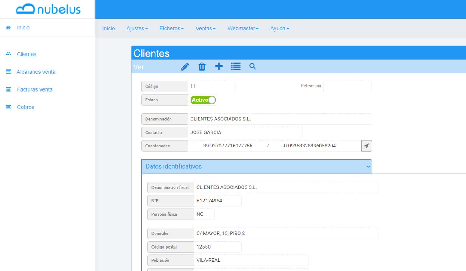Nubelus. Software de gestión en la nube