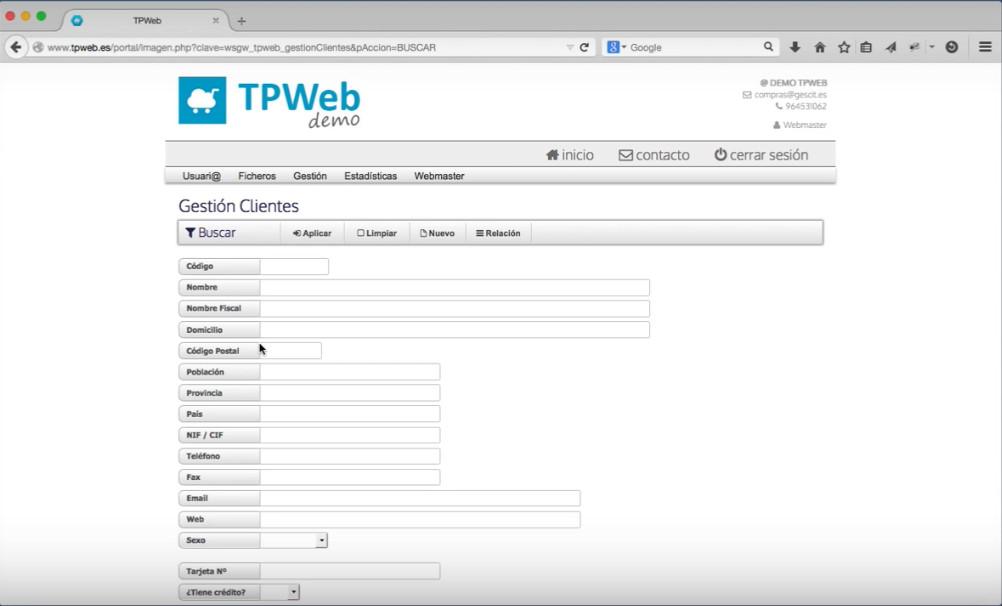 Programa para TPV online
